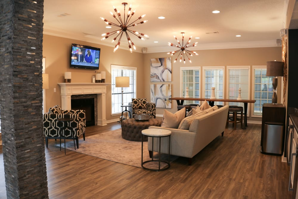 Living room in model home at The Retreat at Chenal in Little Rock, Arkansas