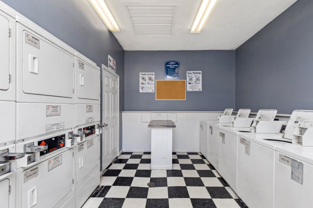 Onsite laundry facility at Carriage Hills in Macon, Georgia