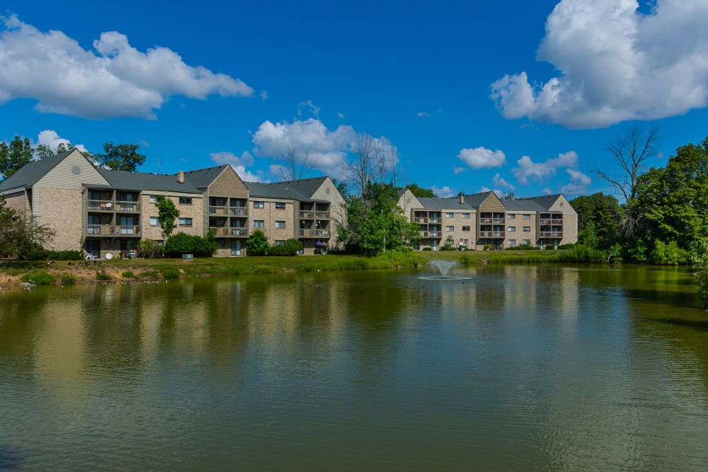 Kellogg Cove Apartments from across the pond in Kentwood, Michigan