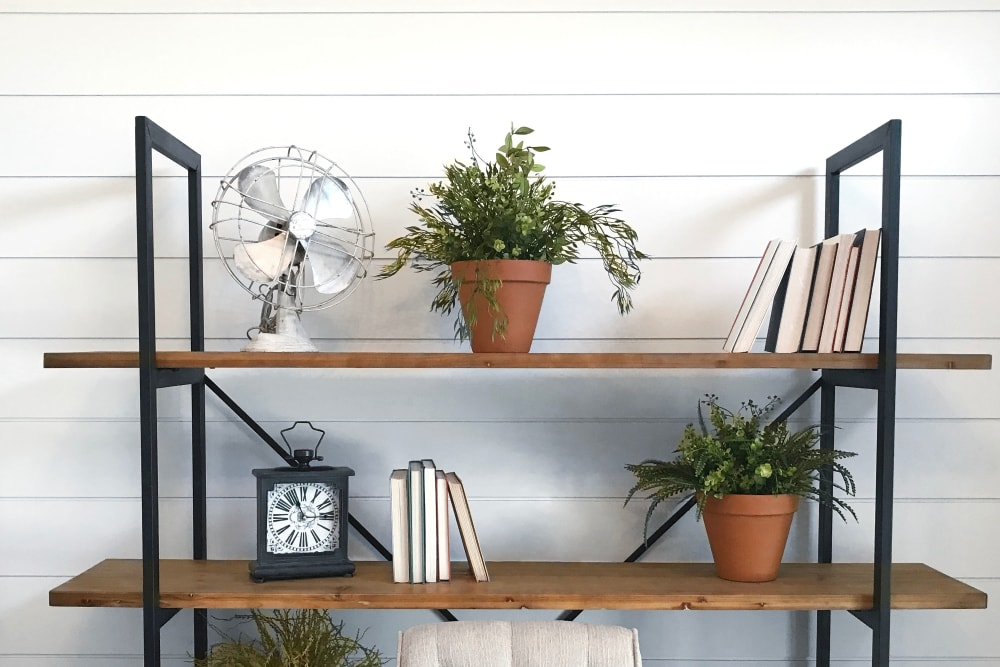 Well decorated shelves at FalconView in Colorado Springs, Colorado