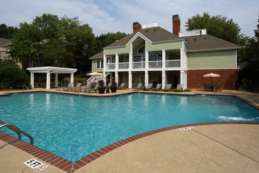 Large resident-only pool at Broad River Trace in Columbia, South Carolina