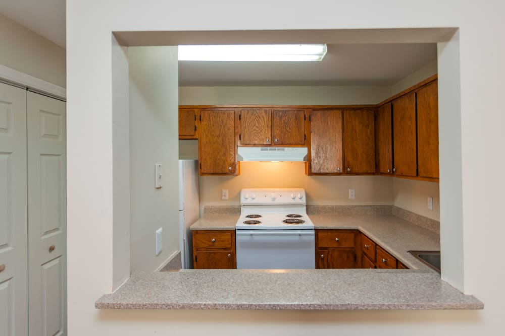 Model kitchen at Southwood Apartments in Nashville, Tennessee
