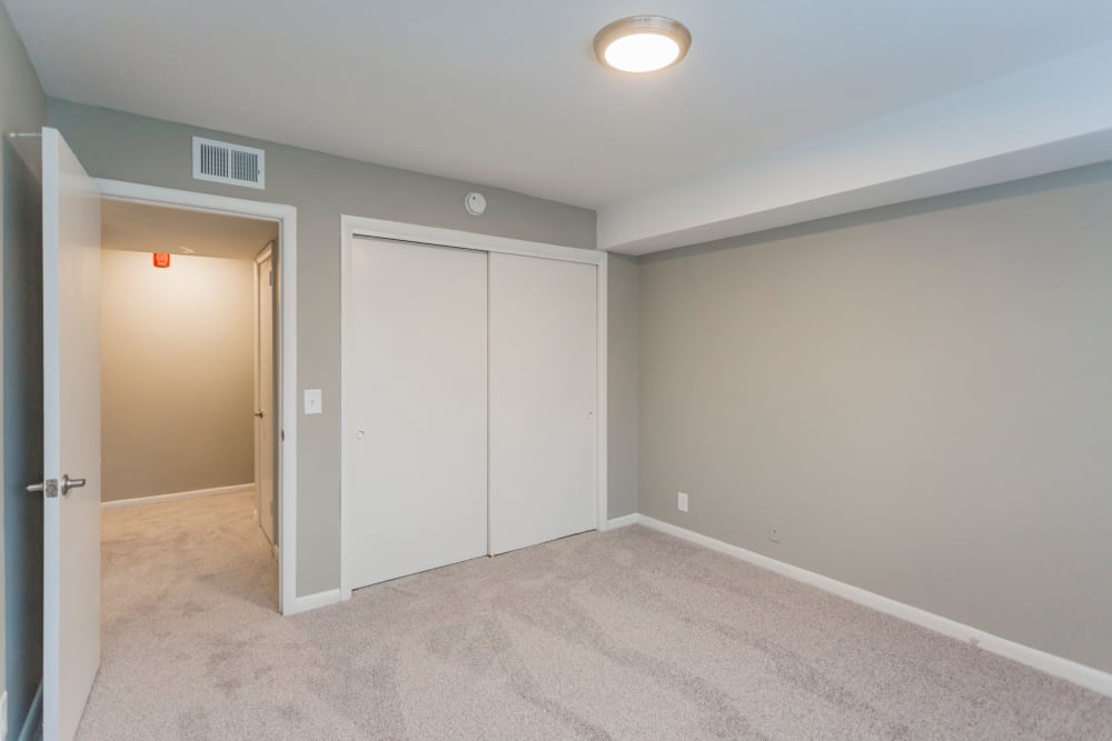 Bedroom with a closet at Gibson Creek Apartments in Madison, Tennessee