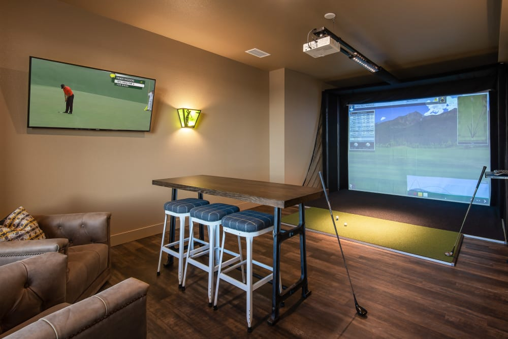 Virtual golf is offered at Affinity at Ramsey in Ramsey, Minnesota