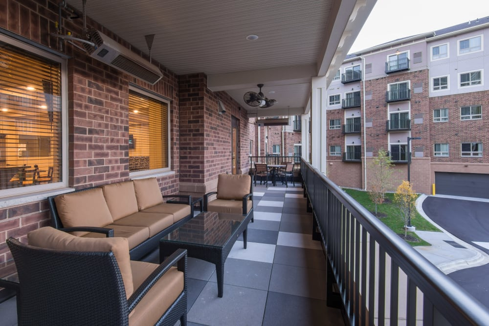 Resident community deck at Affinity at Ramsey in Ramsey, Minnesota.