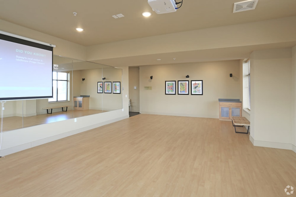 Yoga studio at Affinity at Ramsey in Ramsey, Minnesota
