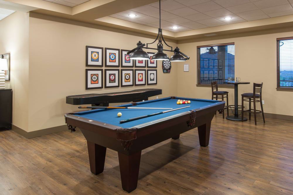 Resident pool table at Affinity at Ramsey in Ramsey, Minnesota