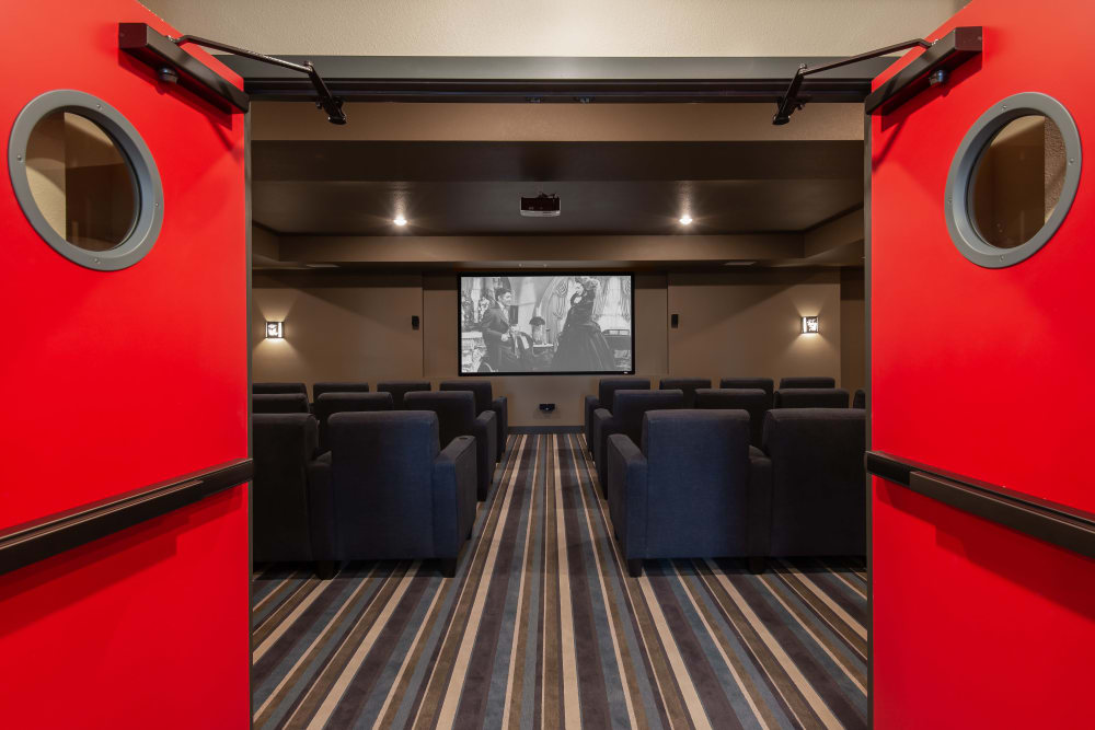 Resident movie theater at Affinity at Ramsey in Ramsey, Minnesota