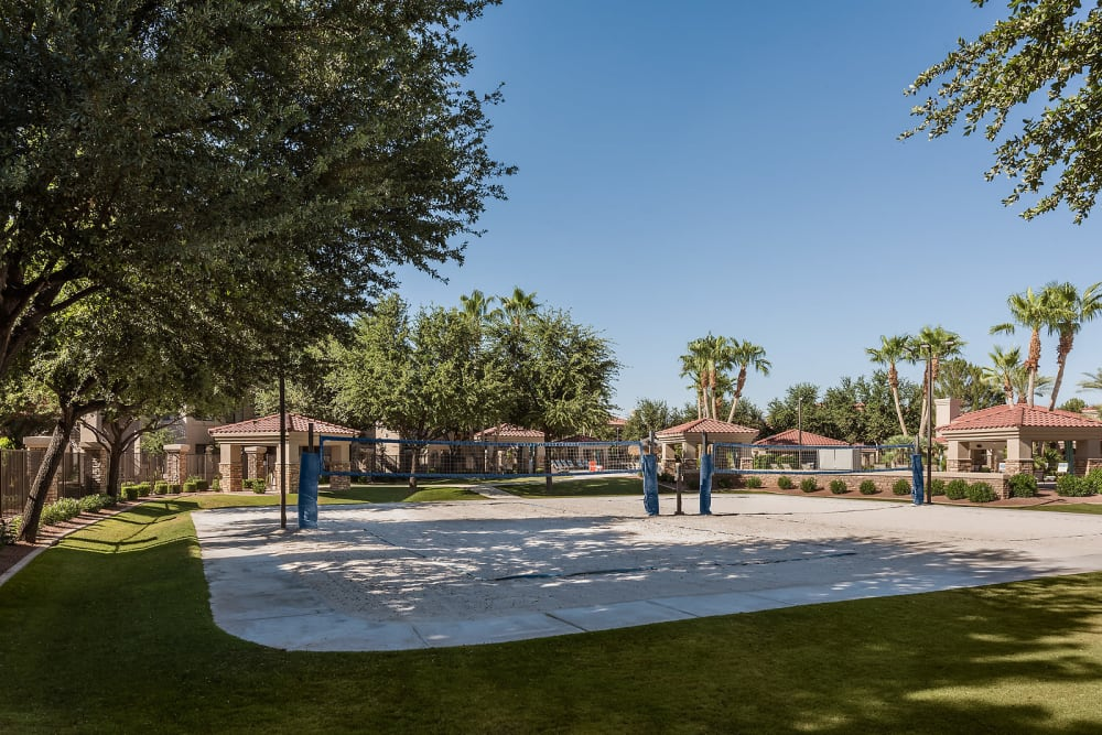 San Volleyball court at San Cervantes in Chandler, Arizona