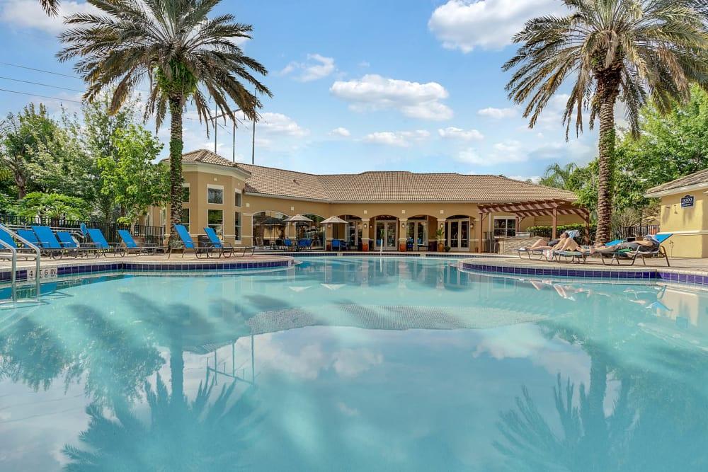 Beautiful outdoor pool at Palms at World Gateway in Orlando, Florida