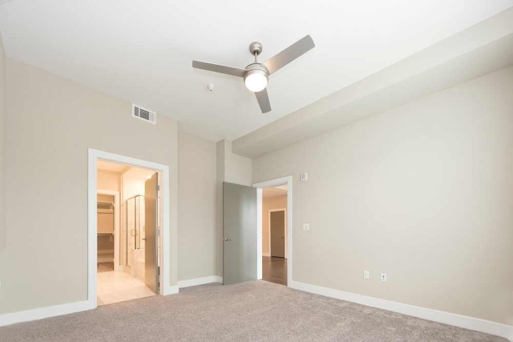 Bedrooms with ceiling fans at Canal1535 in New Orleans, Louisiana.