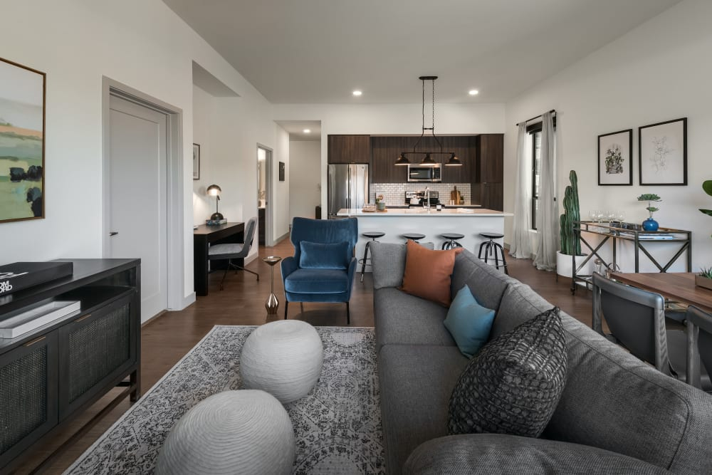 Brand new spacious living room at The Astor at Osborn in Phoenix, Arizona
