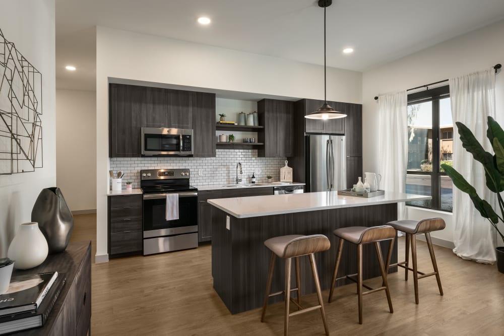 Beautiful open-concept floor plan in model home at The Astor at Osborn in Phoenix, Arizona