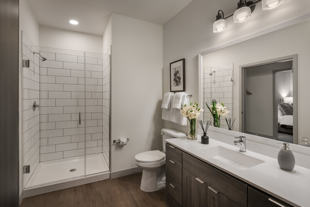 Large and spacious luxurious bathroom at The Astor at Osborn in Phoenix, Arizona