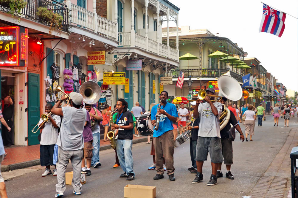 Live music near Canal1535 in New Orleans, Louisiana.