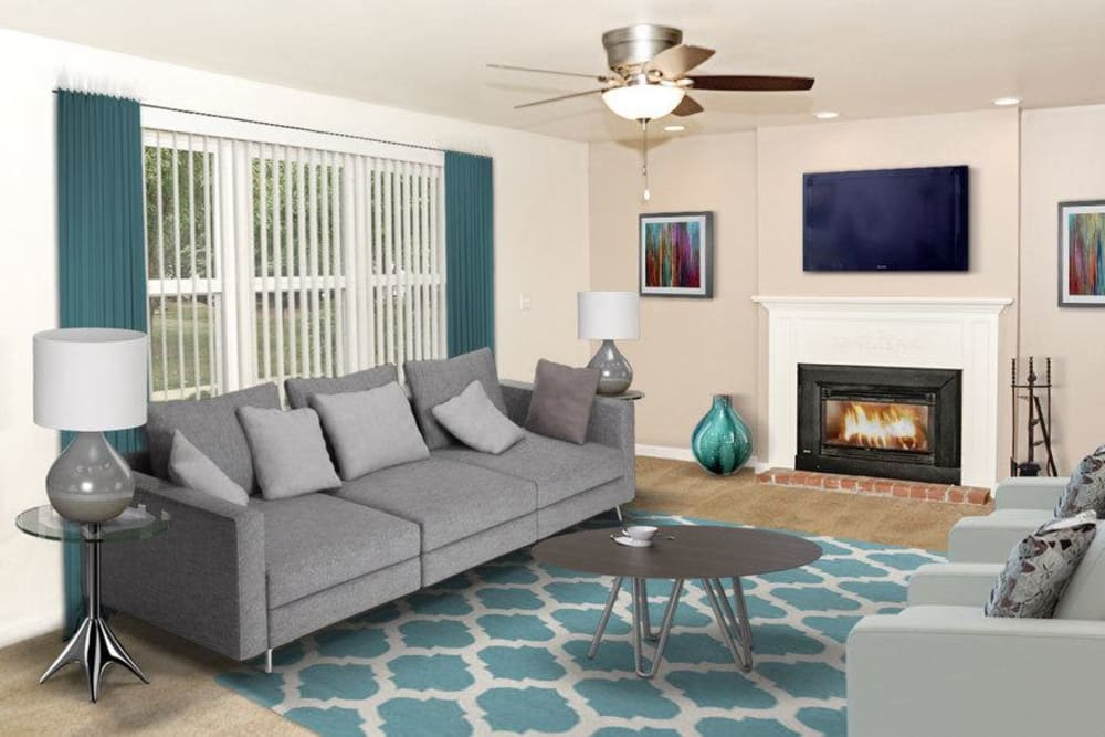 Ample living space at Green Lake Apartments & Townhomes in Orchard Park, New York