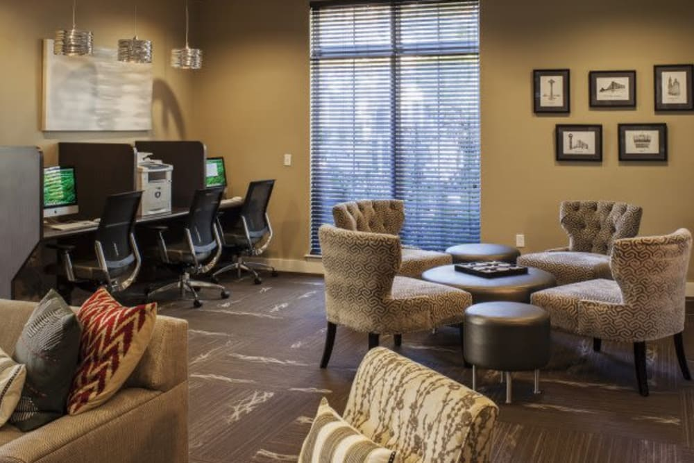 Business center at The Reserve at Ballenger Creek Apartments in Frederick, Maryland