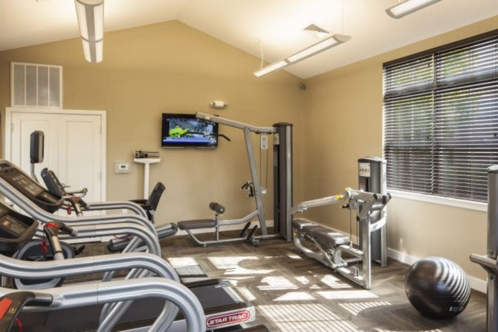 Fitness center at The Reserve at Ballenger Creek Apartments in Frederick, Maryland