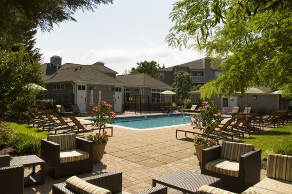 Pool lounge at The Reserve at Ballenger Creek Apartments in Frederick, Maryland