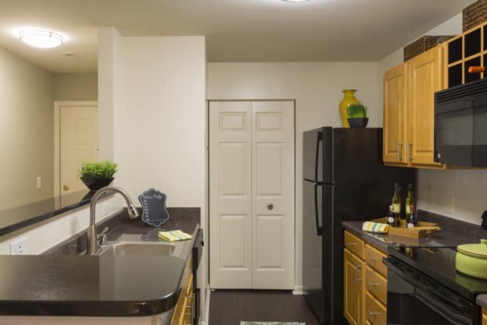 Kitchen amenities at The Reserve at Ballenger Creek Apartments in Frederick, Maryland