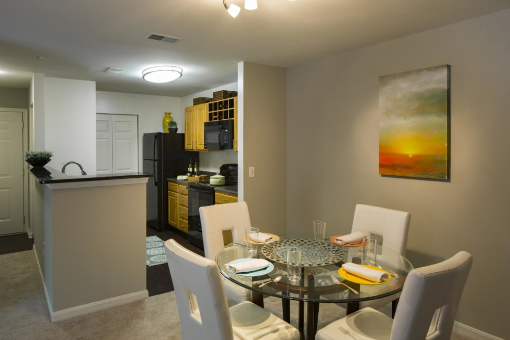 Dining room at The Reserve at Ballenger Creek Apartments in Frederick, Maryland