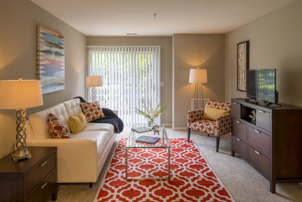 Living room at The Reserve at Ballenger Creek Apartments in Frederick, Maryland