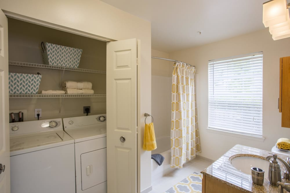 Laundry room at The Reserve at Ballenger Creek Apartments in Frederick, Maryland