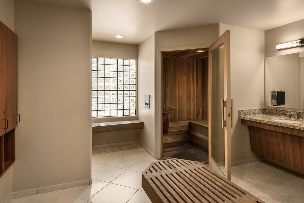 Luxury steam room at San Lagos in Glendale, Arizona