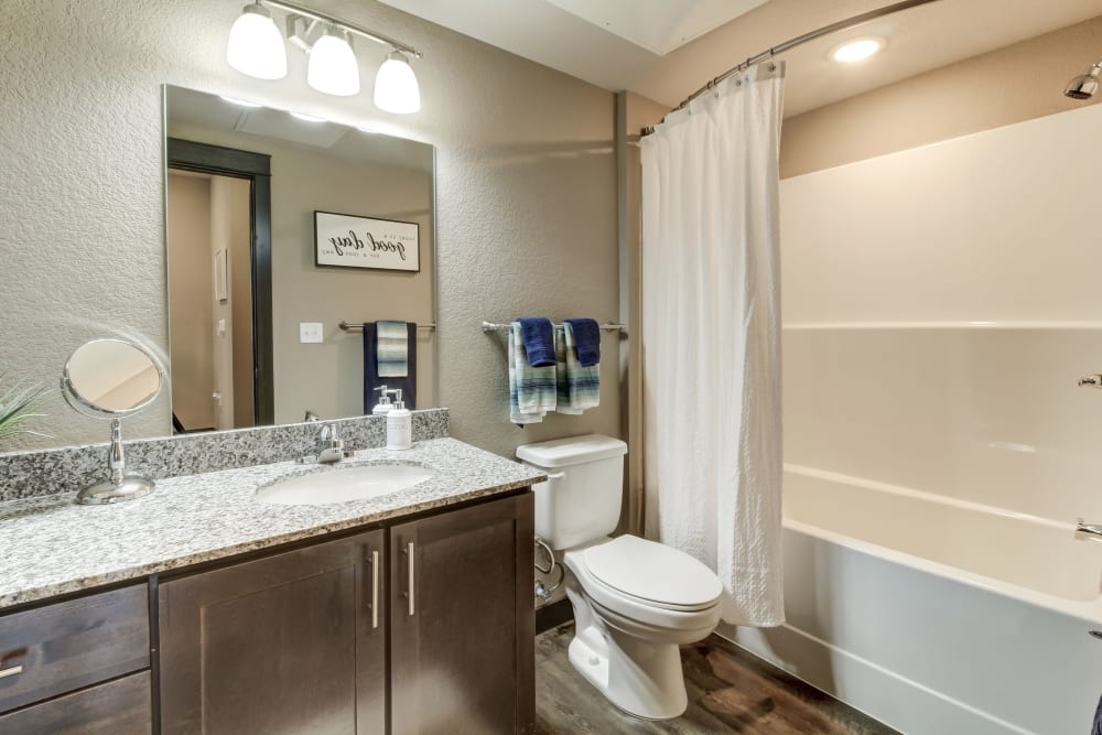 Beautiful Bathroom at Timnath Trail at Riverbend Apartment Homes in Timnath, Colorado