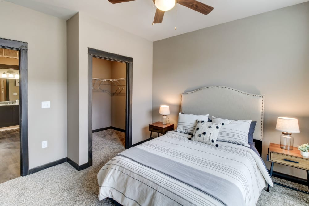 Beautiful Bedroom at Timnath Trail at Riverbend Apartment Homes in Timnath, Colorado