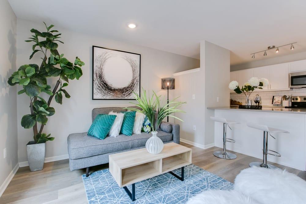 Beautiful Living Room at Apartments in Minneapolis, Minnesota