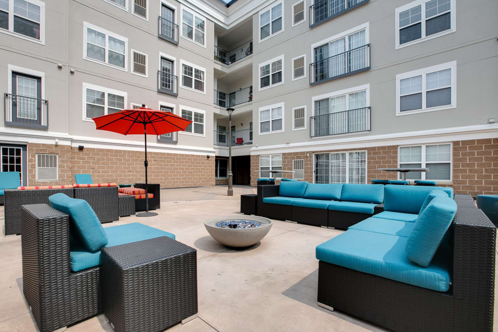 Enjoy Apartments with a lounge area at Loring Park Apartments