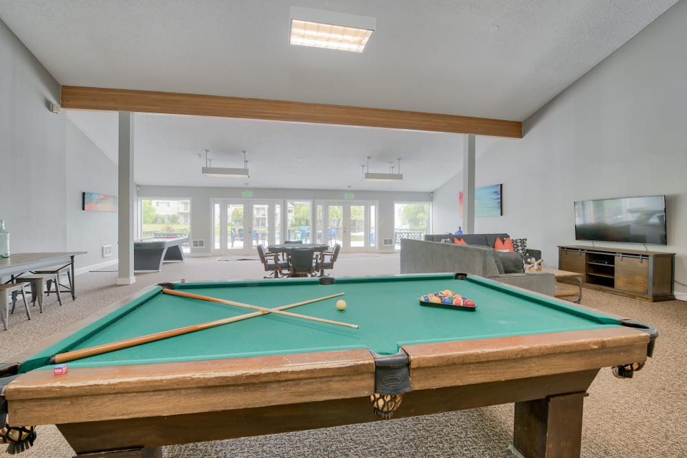 Lakeside Landing Apartments offers a Clubhouse with a Pool table in Tacoma, Washington