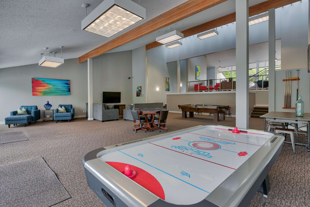 Lakeside Landing Apartments offers a Clubhouse with a Game Room in Tacoma, Washington