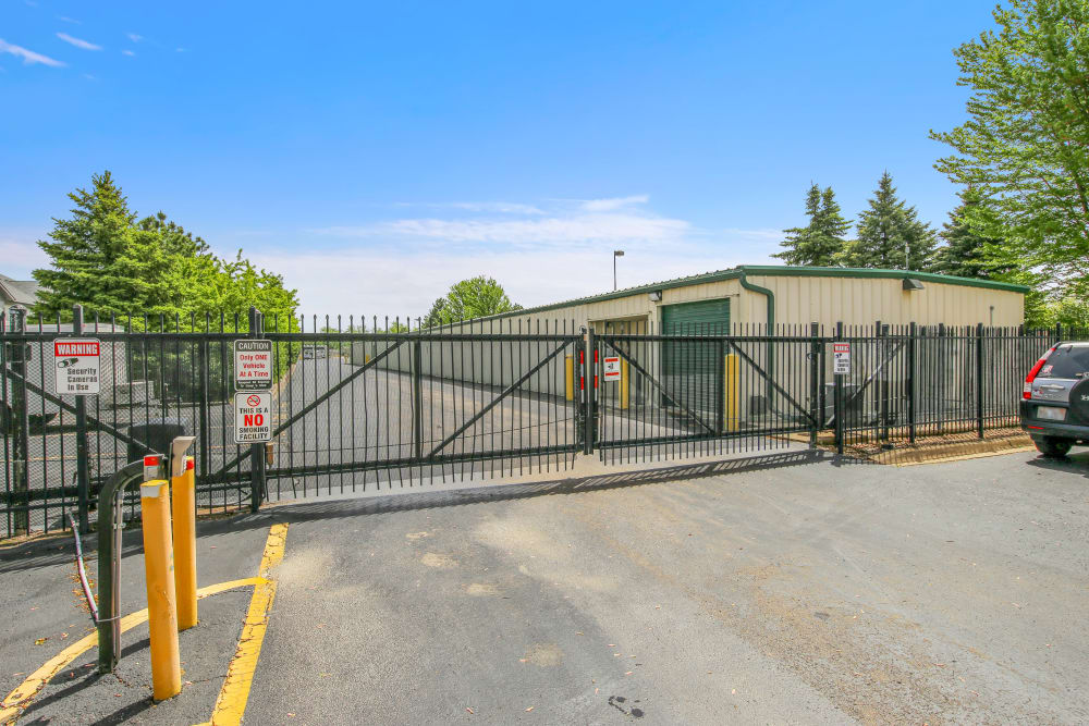 The gate at Global Self Storage in Bolingbrook, Illinois