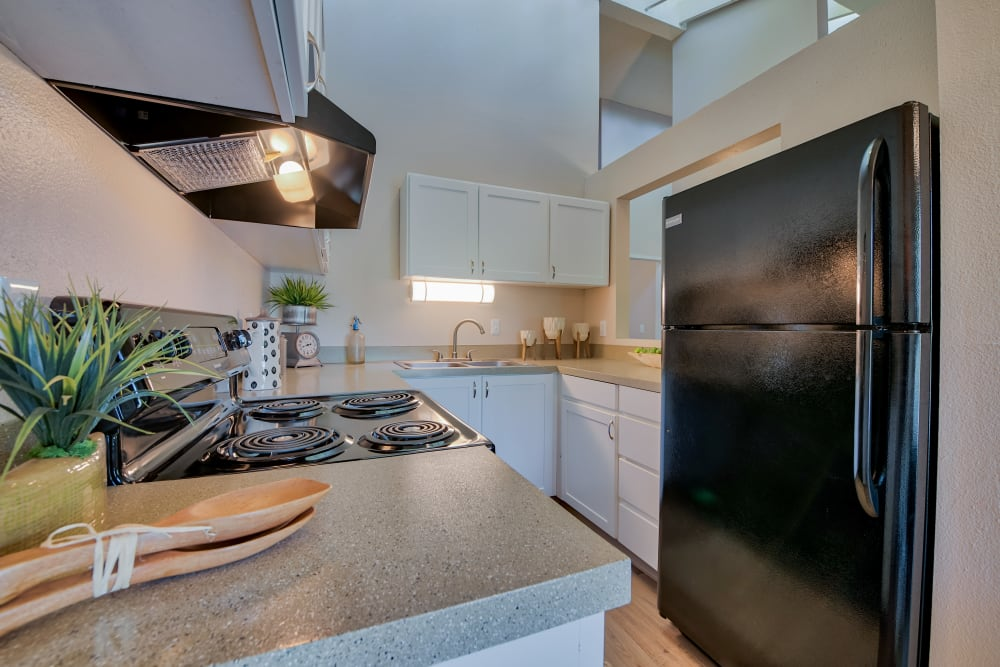 Kitchen at Lakeside Landing Apartments in Tacoma, Washington