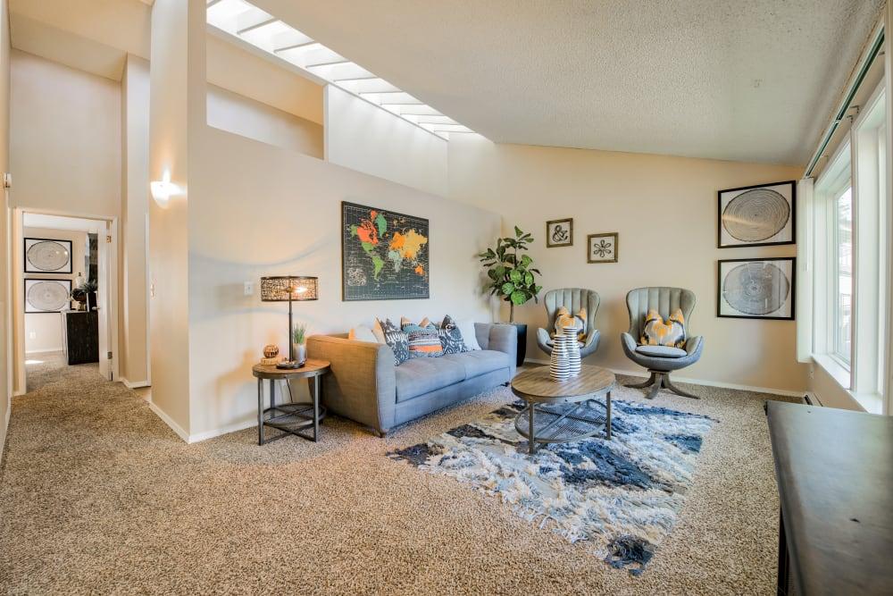 Living Room at Lakeside Landing Apartments in Tacoma, Washington