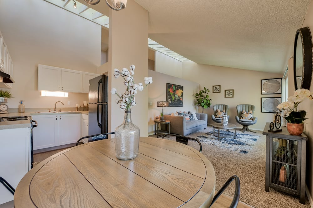 Living & Dining Room Area at Lakeside Landing Apartments in Tacoma, Washington