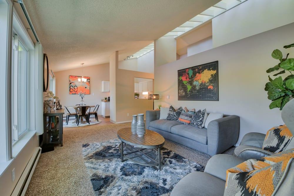 Living Room at Lakeside Landing Apartments in Tacoma, WA