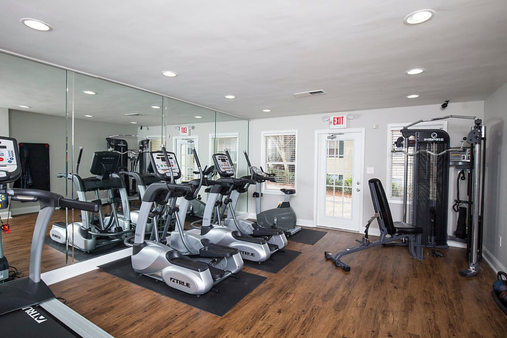 Fully-equipped fitness center at The Greens at Cascade in Atlanta, Georgia