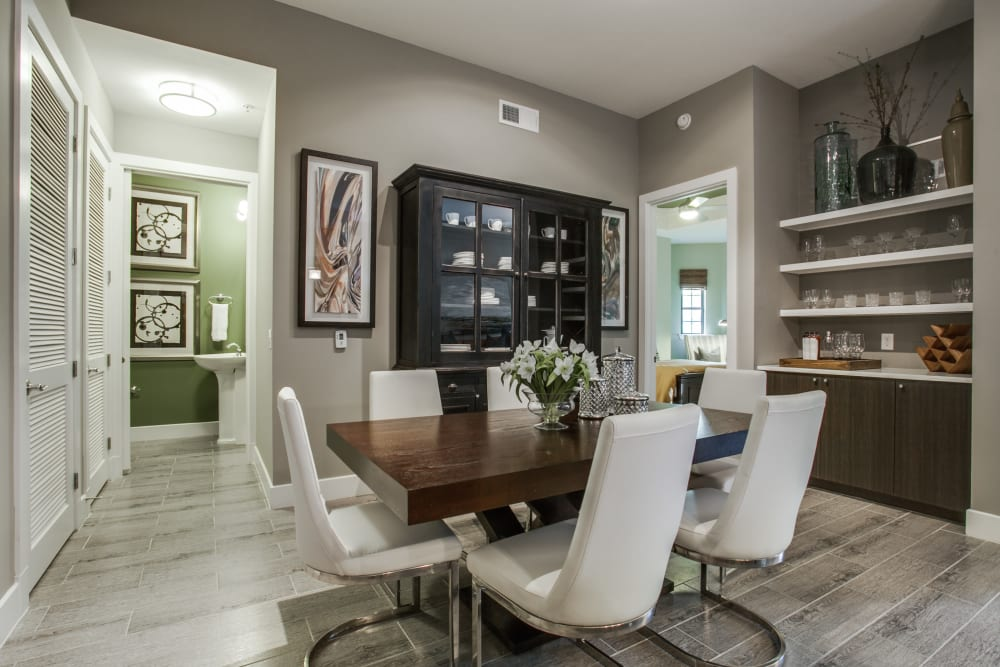 Large model dining room at Cantabria at Turtle Creek in Dallas, Texas