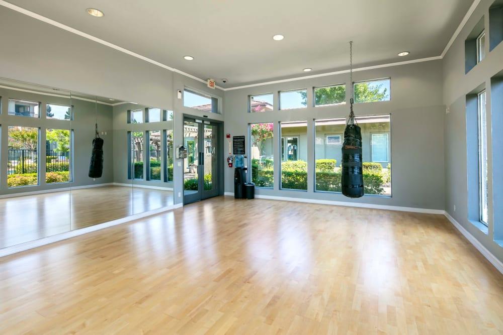 Workout studio at Miramonte and Trovas in Sacramento, California