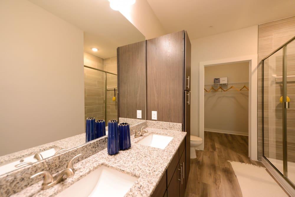 Bathroom at Luxor Club in Jacksonville, Florida