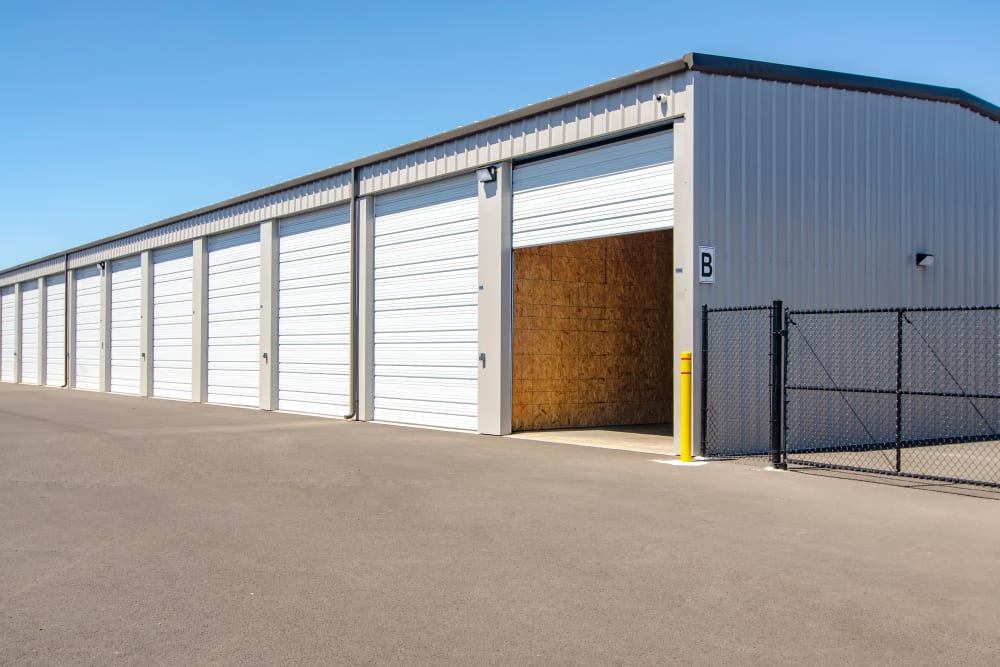 A large storage unit at Oregon RV & Storage in Hubbard, Oregon