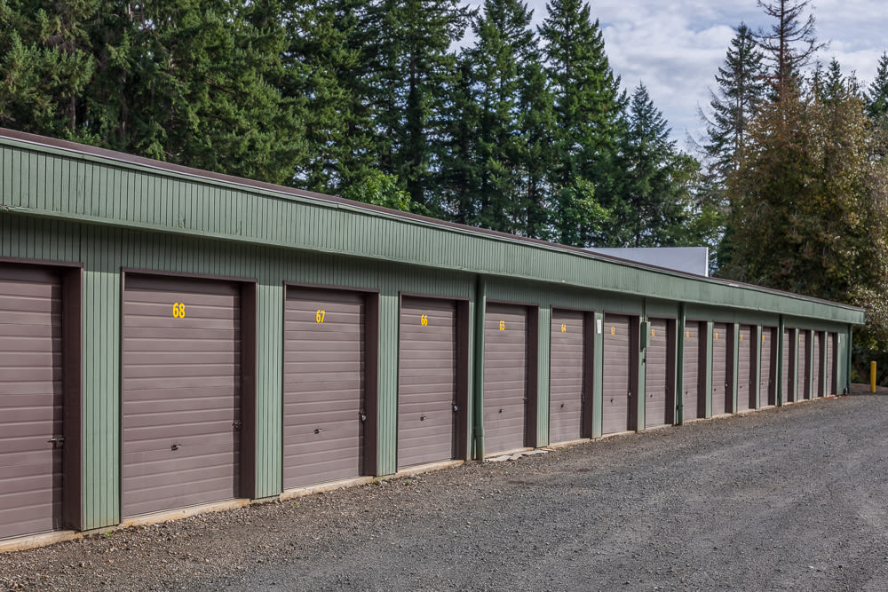Easy access to your storage unit at Bainbridge North Storage in Bainbridge Island, Washington.