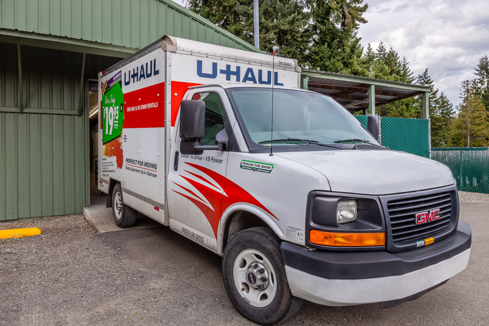 Moving trucks available at Bainbridge North Storage in Bainbridge Island, Washington.
