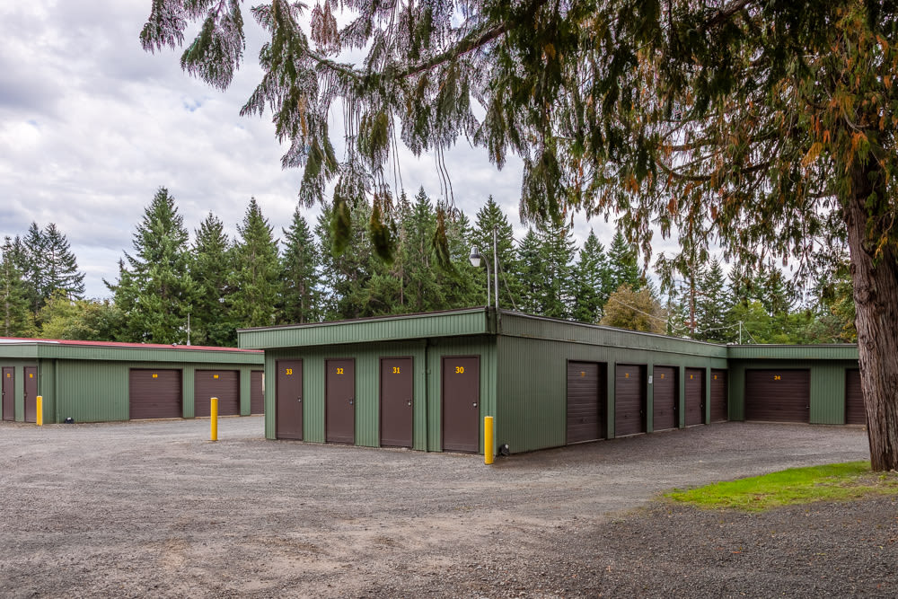 Drive-up units available at Bainbridge North Storage in Bainbridge Island, Washington.
