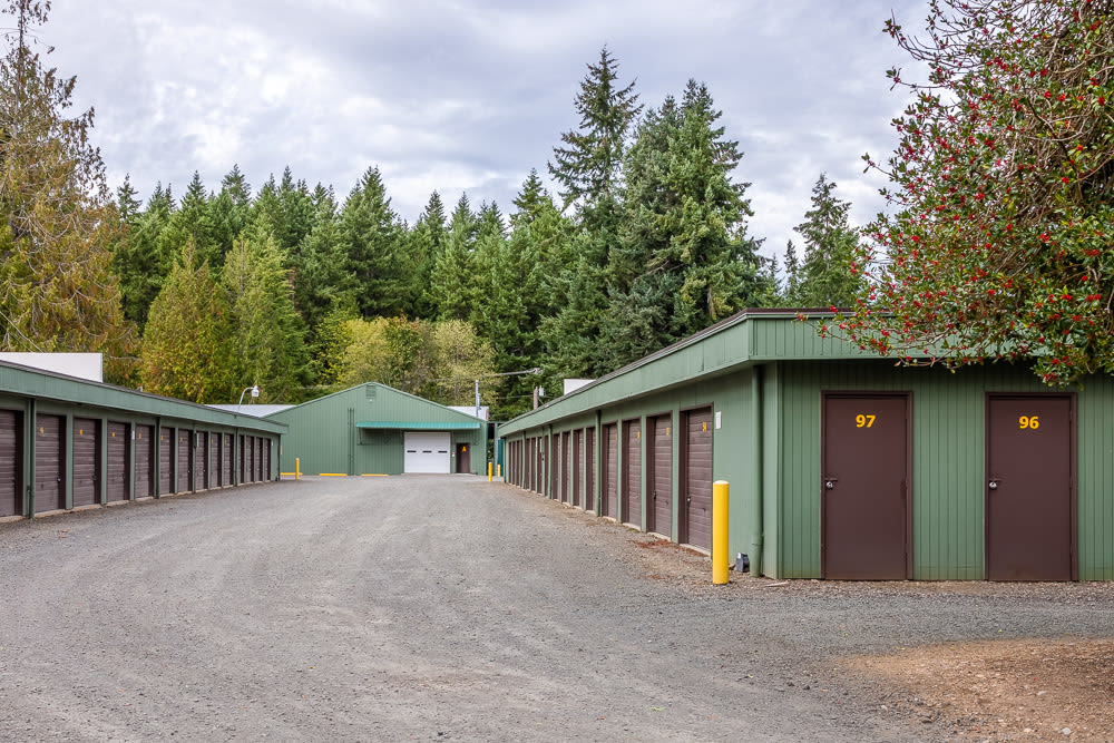 Variety of units available at Bainbridge North Storage in Bainbridge Island, Washington.