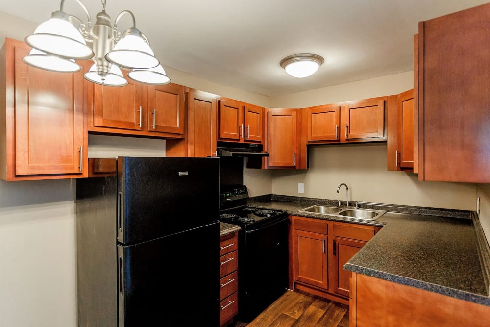 Well lit kitchen at Maple Creek in Nashville, Tennessee
