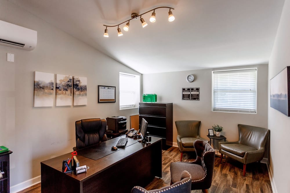 Inside the leasing office at Maple Creek in Nashville, Tennessee